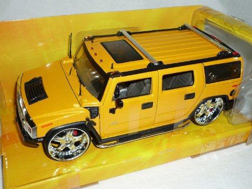 Hummer H2 H 2 SUV Tuning Gelb 1/24 Jada Modellauto Modell Auto