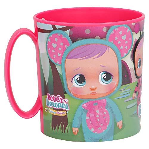 Little Flight Cry Babies - Taza de plástico con asa para microondas, ideal para la escuela o para el colegio o el colegio (1 taza con mango de plástico rígido para microondas)