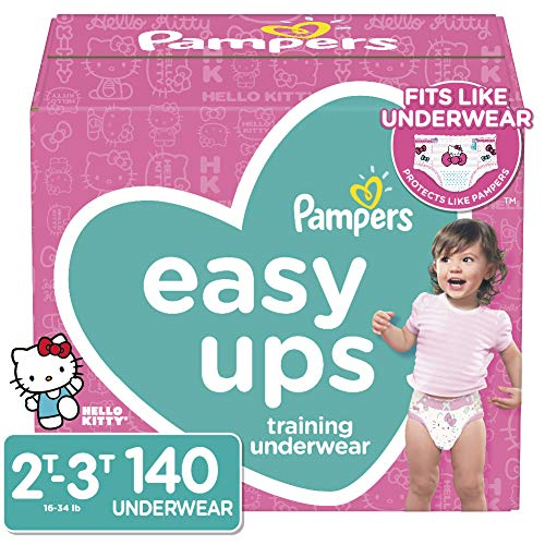 Pampers Easy Ups Training Underwear Girls Size 4 2T-3T 140 Count