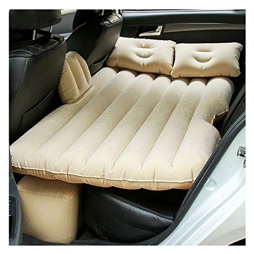 Car Air Inflatable Bed Auto Aria Gonfiabile Travel Mattress Letto Universale per Back Seat Multi Functional Divano Cuscino Outdoor Camping Mat Cushion con Due Cuscini d'Aria,Beige