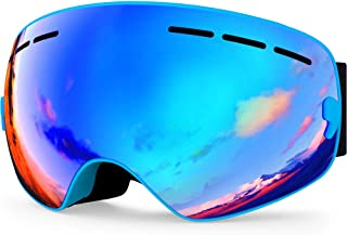 8c6b15c5ab85 Zionor Lagopus X Mini Kids Snowmobile Snowboard Skate Ski Goggles with 100%  UV Protection Anti