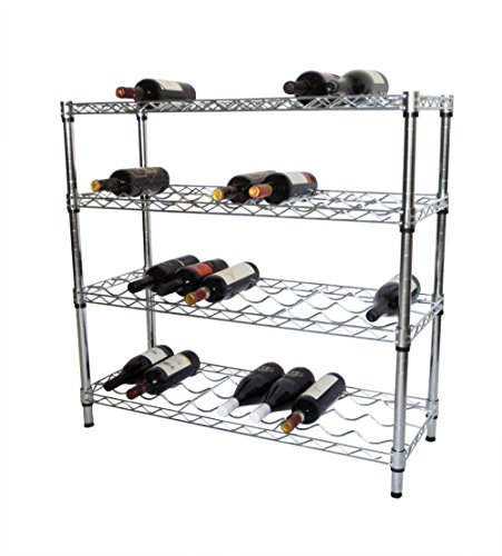 TRINITY EcoStorage 4-Tier NSF Wine Rack, Chrome