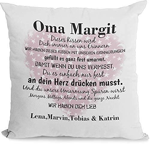 Kissen Oma geschenk mit Namen erinnerungen Individuell personalisiert einzahl mehrzahl enkelnamen dekokissen