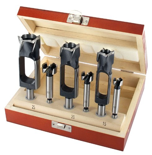 ENT 09151 6-deliges set met 3 proppenboren- en 3 Forstnerboren. Combinatie set. Boordoormeters: 15-20-25 mm. De afmetingen zijn op elkaar afgestemt.