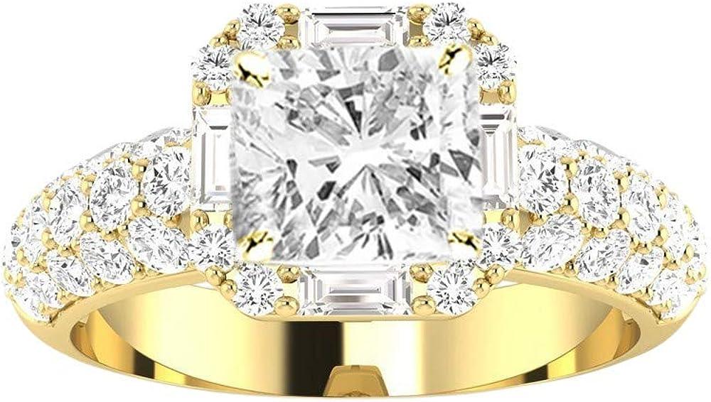 特価 1.75 Ctw 買物 14K White Gold Designer And Style Popular Halo Baguette