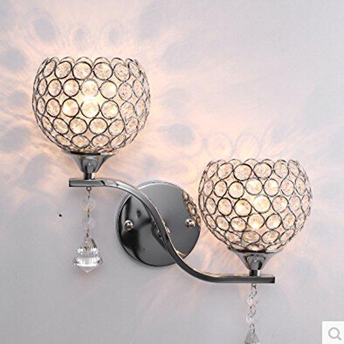 VanMe Curseur Double Cristal Moderne Lampe Murale Silver Mirror//Chambre D'Escalier À Une Lumière Nouvelle Arrivée