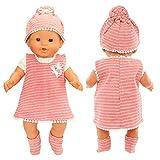 Miunana Vestido Imprimir Raya para 14 - 18 Pulgada Muñeca Bebé 36 - 46 cm (NO...