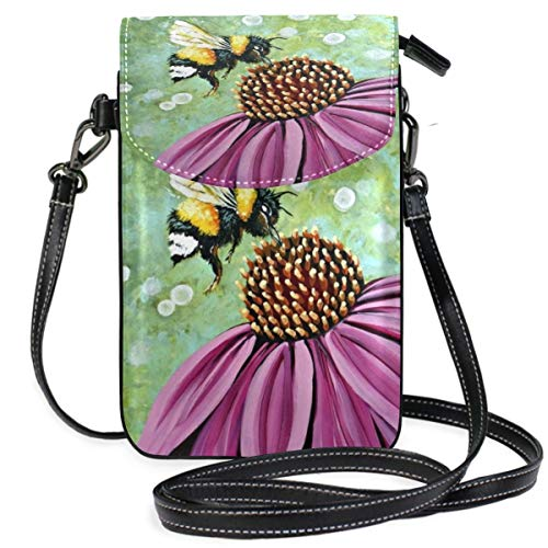 XCNGG Bee Cell Phone Purse Wallet for Women Girl Small Crossbody Purse Bags