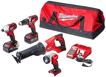 MILWAUKEE S 2696-24 M18 Cordless Compact Combo Tool Kit