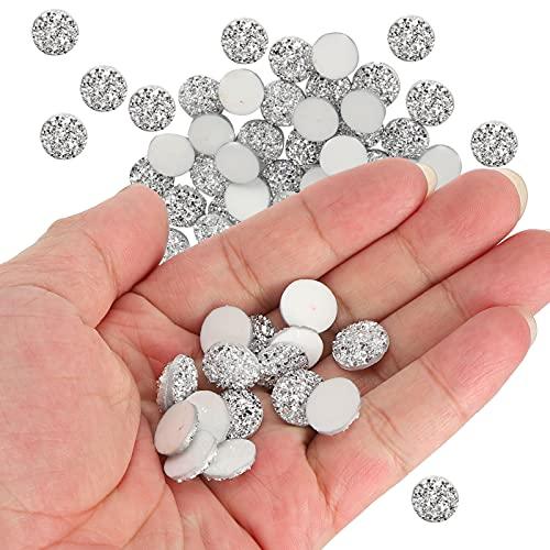 Diamante redondo de resina, Diamante plano Diamante brillante Suministros para manualidades para producción de bricolaje para manualidades para colgantes de collar para decoración de