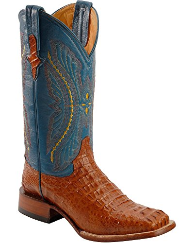 Ferrini Mens Smooth Ostrich Western Cowboy Boots Mid Calf - Brown - Size 11 2E