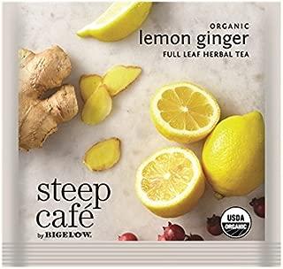 Steep Cafe Organic Lemon Ginger Herbal Tea Bags by Bigelow, 50 Count Box
