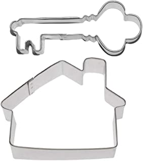 House & Antique Key Realtor Cookie Cutter Set