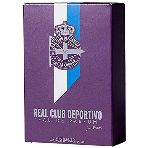 Eau de Parfum Real de sport de la corogne Naturel Spray vaporisateur 100 ML pour femmes supporter du Sport de la corogne. produit fabriqué en galice E