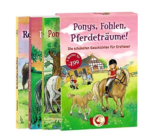 Leselöwen - Ponys, Fohlen, Pferdeträume!: Die schönsten Geschichten zum Lesenlernen - Schuber mit drei Bänden für Kinder ab 6 Jahre