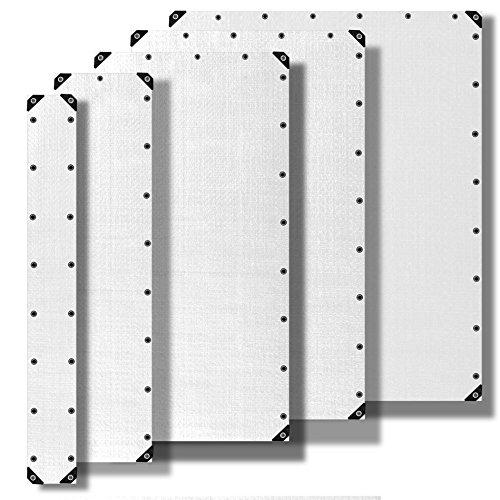 ESTEXO dekzeil beschermfolie beschermzeil bootzeil tuinzeil PE zeil 90 g/m2 180 g/m2 260 g/m2 wit 2x3m