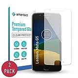 smartect Pellicola Protettiva per Lenovo Moto G5 [2 Pezzi] - 9H Vetro Temperato – Design Ultra Sottile – Applicazione Anti-Bolle – Anti-Impronte