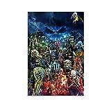 AAOO Iron Maiden - Póster de lienzo (30 x 45 cm)