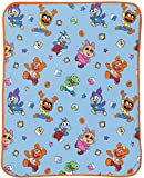 Disney Muppet Babies Blocks Throw Blanket- Measures 40 x 50 inches, Kids Bedding Features Baby Kermit, Miss Piggy, Gonzo, Fozzie, Amimal, & Penguin - Super Soft Fleece - (Official Disney Product)