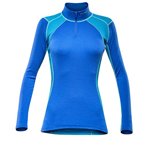 Devold Energy Woman Zip Neck Planet Blue L