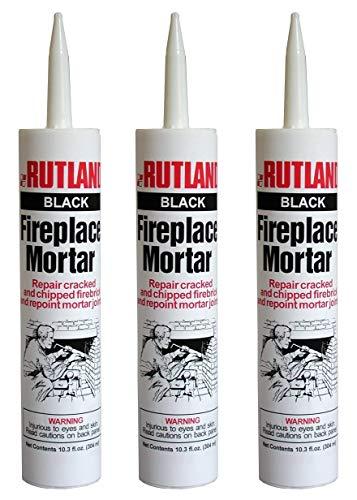Rutland Products, Black Rutland Fireplace Mortar Cartridge, 10.3-Ounce (1, Thrее Рack)