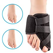STÙNICK - Bunion Corrector for Diabetic Foot Care 2020 UPDATE - Bunion Pain Relief - Orthopedic Big Toe Joint Brace - Hammer Toe Splint Spacers Straightener - Separators Protector Toes - Hallux Valgus