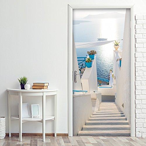 wall art PT0246 Decorazione Adesiva per Porte arredo casa - Porta Le Scale - Stampa su PVC Adesivo Bubble Free