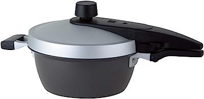 北陸アルミ 圧力鍋 3L [IH対応] 軽量 EGG FORM 外面耐熱塗装 ふっ素樹脂加工 日本製