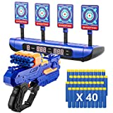 Electric Scoring Auto Reset Shooting Digital Target with Foam Dart Toy Shooting Blaster & 20Pcs Refill Darts, Battle...