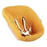 Ukje-Fodera per Seggiolone Pappa modello Stokke Tripp Trapp Newborn Set di 1 Fodera Schienale Tessuto Velluto Comodo e Facile da Pulire Imbottitura Cuscini in Cotone Oeko tex Giallo Ocra