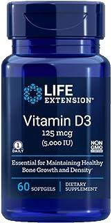 Life Extension Vitamin D3 5000 IU, 60 Softgels - 4-Pak