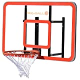 BEE-BALL ZY-022 Basketball Backboard with Reinforced Perspex and NBA Size Flex Basketball Hoop