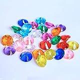 DAHI Deko Diamanten 30mm Hochzeit Streudeko Transparent Kristall 30stk Dekosteine Tischdeko Diamanten (bunt, 30x20mm) - 4