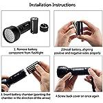 ESCO LITE UV Black Light, 51 395 nM Ultraviolet Blacklight Detector for Dog Urine, Pet Stains and Bed Bug, Led Flashlight 12