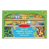 Preis am Stiel Holzperlen-Set ''Fröhlicher Garten'' | Kreativität | Schmuck | Bastelstunde | Bunt | Kids | Bastelmaterial | Grün | Hobby | Spaß | Geschenk für Kinder