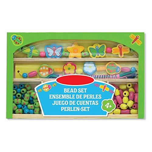 Preis am Stiel Holzperlen-Set \'\'Fröhlicher Garten\'\' | Kreativität | Schmuck | Bastelstunde | Bunt | Kids | Bastelmaterial | Grün | Hobby | Spaß | Geschenk für Kinder