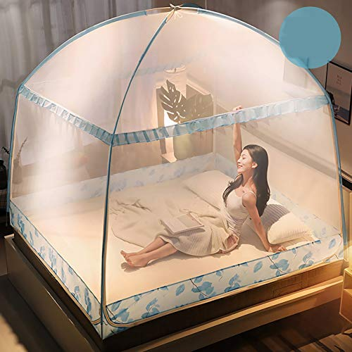 JUYOU Moskitozelt Mosquitonetz Mobiler Insektenschutz mit 200 x 200 cm