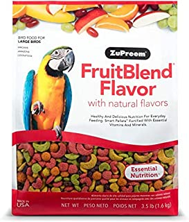 ZuPreem FruitBlend Flavor Pellets Bird Food for Large Birds | Powerful Pellets Made in The USA, Naturally Flavored for Ama...