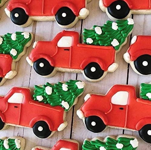 Details about  /Christmas  red truck silicone spatula and matching vintage truck cookie cutter