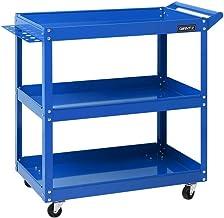 Giantz 3-Tier Rolling Tool Cart Utility Storage Trolley-Blue