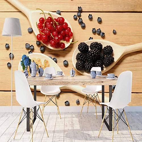 SKTYEE Else Brown Mesa de madera en cucharas Rojo Negro Especias Impresión...