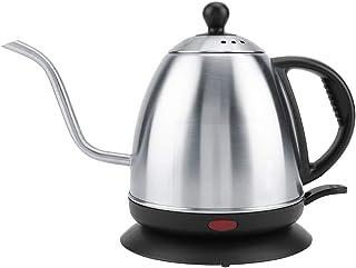 Pot Chauffant, poignée Anti-brûlure, Bouilloire électrique en Acier Inoxydable, Nettoyage Facile 1L Rapide pour Le café