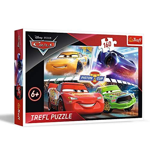 Trefl WPU-15356-01-007-01 , Puzzle, Ein Siegerrennen, 160 Teile, Disney Cars 3, für Kinder ab 6 Jahren