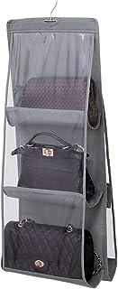 Yardwe Folding Closet Organizer Wardrobe Hanging Storage Bag System for Handbag Grey Size L