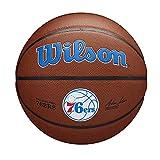 Wilson Pelota de Baloncesto Team Alliance, Philadelphia 76ERS, Interior/Exterior, Cuero Mixto, Tamaño: 7