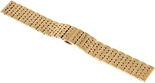 FITYLE 18/20/22mm Stainless Steel Watch Band Push Button Watch Strap for Men Women