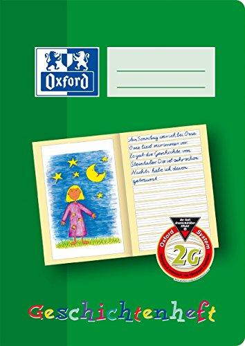 OXFORD 100050104 Geschichtenheft Schule 10er Pack A5 16 Blatt Lineatur 2G (2. Klasse) Lernsysteme grün