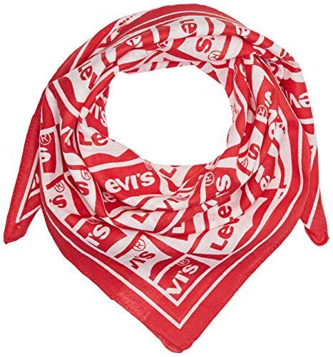 Levi's Repeat Batwing Bandana Scialle, Rosso (Brillante Red 88), Taglia unica Uomo