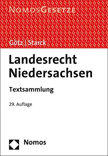 Landesrecht Niedersachsen: Textsammlung - Rechtsstand: 15. August 2020