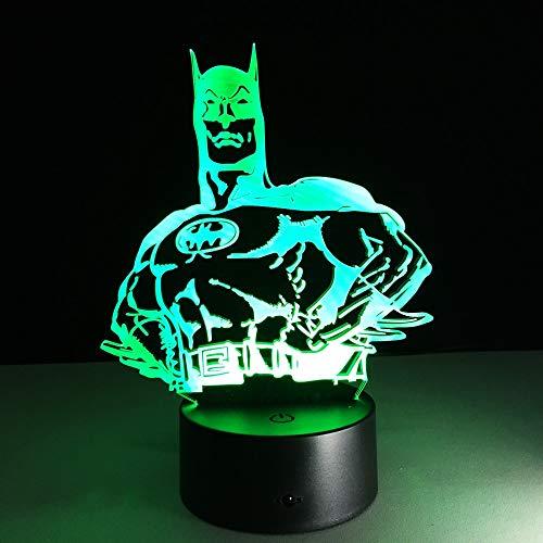 Moda Arte moderno de alto grado 3D Lámpara de mesa Juguete para niños Regalo Noche Hogar Dormitorio Sala de estar Decoración Mesa Escritorio Luz GX047
